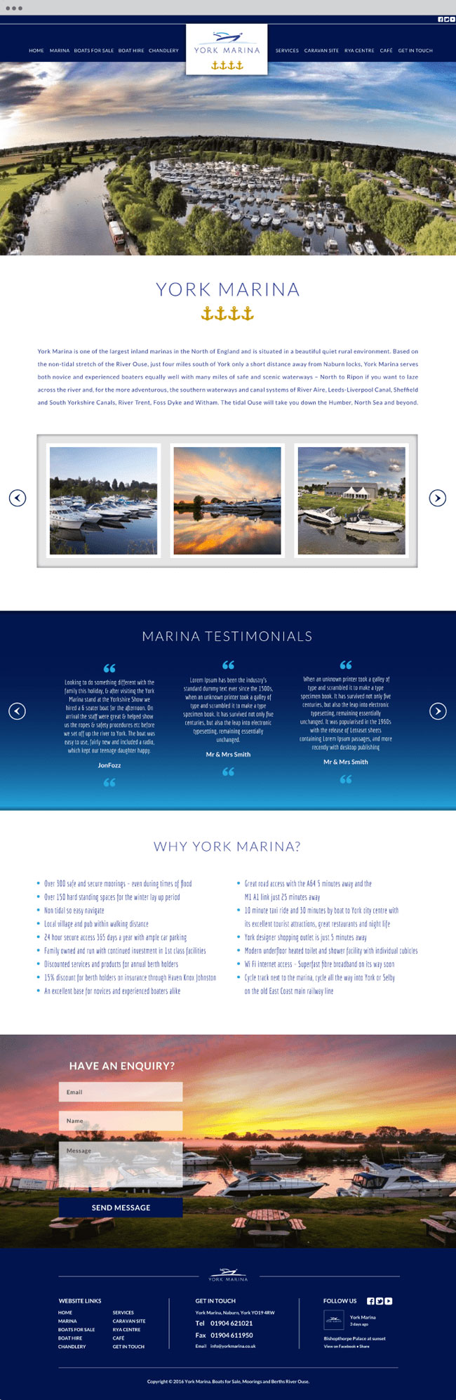 york marina website