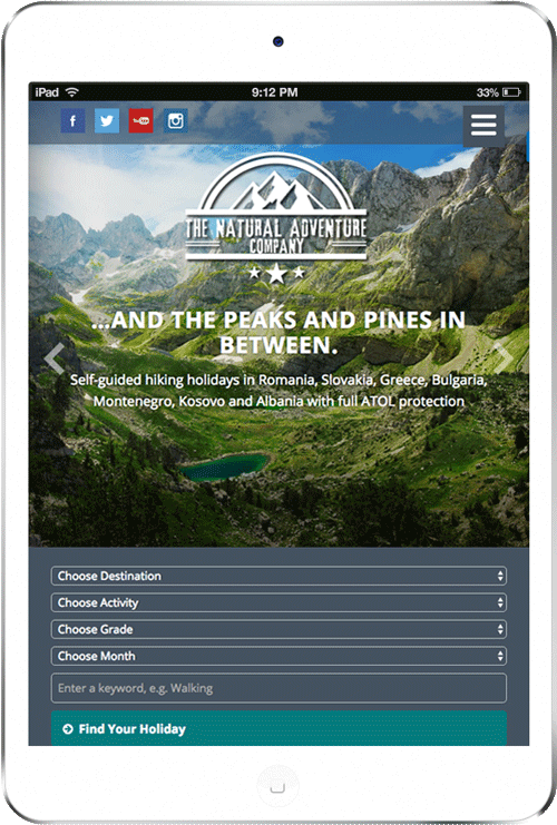 the natural adventure website
