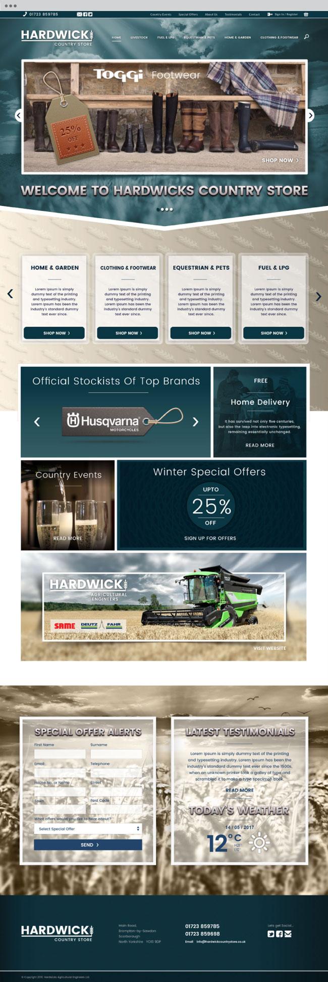 hardwick store website